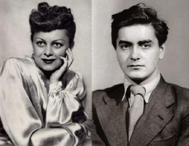 Людмила Целиковская и Юрий Любимов, прожившие вместе 20 лет.
