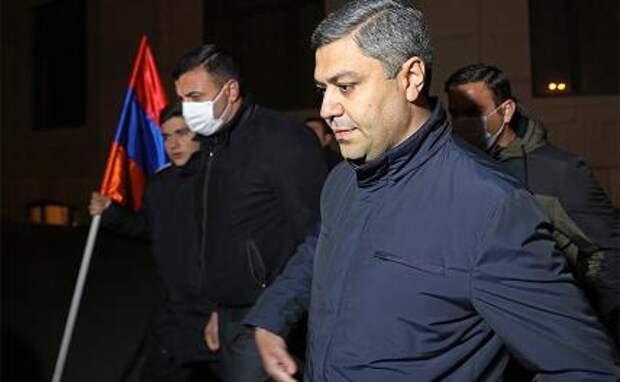 На фото: бывший глава Службы национальной безопасности (СНБ) АрменииАртур Ванецян