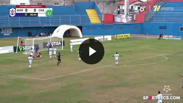 David Batista abre o placar para o Marcílio Dias sobre a Chapecoense - Campeonato Catarinense (18/04/2021)
