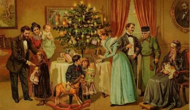 Как наши предки в XIX веке встречали Новый Год