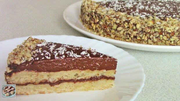 Бананово-шоколадный торт Торт, Еда, Кулинария, Рецепт, Видео, Youtube, Пост, Выпечка, Десерт, Длиннопост