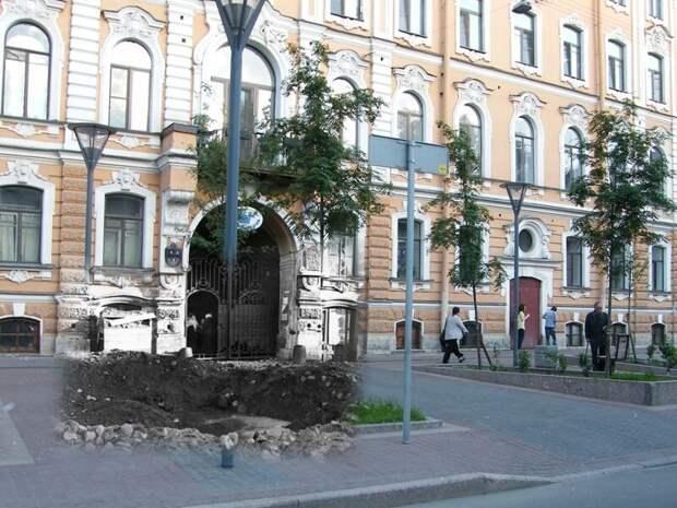 Ленинград 1941-2009 Улица Правды. Воронка от авиабомбы сентябрь 1941 блокада, ленинград, победа