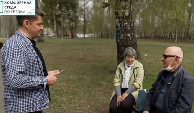 Глава Ижевска взял интервью у горожан в Березовой роще
