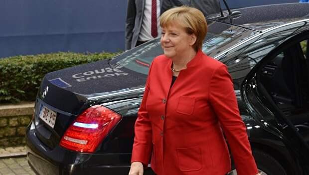 Канцлер ФРГ Ангела Меркель на открытии саммита ЕС в Брюсселе