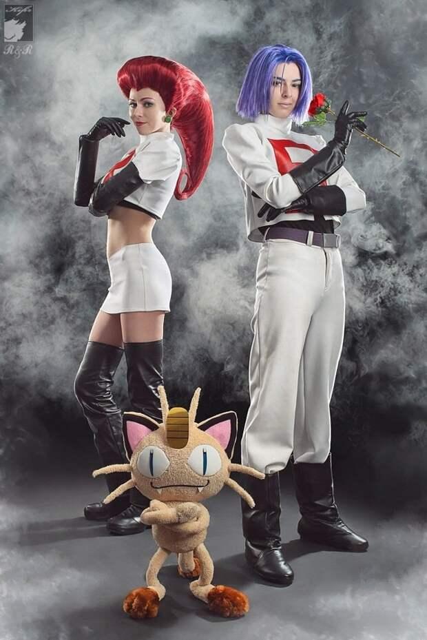 Шикарный косплей на Pokemon с очередным сюрпризом в конце :)