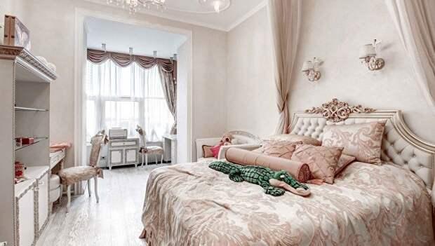 Спальня в квартире на Минской улице