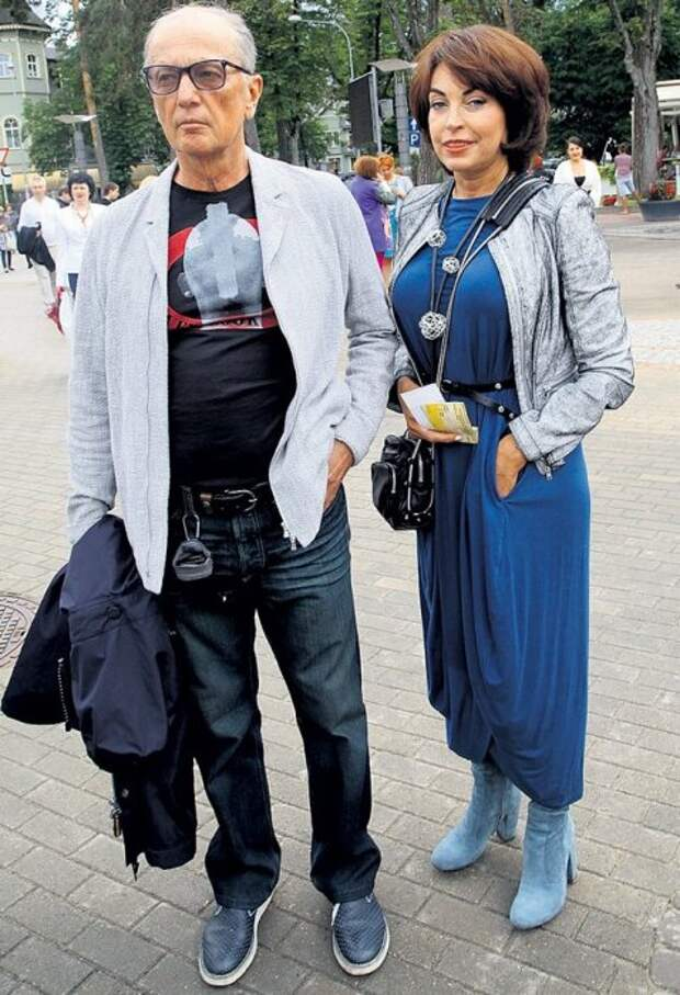 Михаил Задорнов и Елена Бомбина. / Фото: www.elleonora.ru