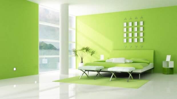 Какие обои подойдут к зеленым шторам? Интерьер в зеленых тонах