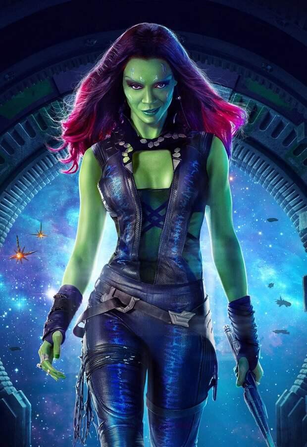 Звезда фантастических боевиков, актриса Зои Салдана, во всей своей красе.