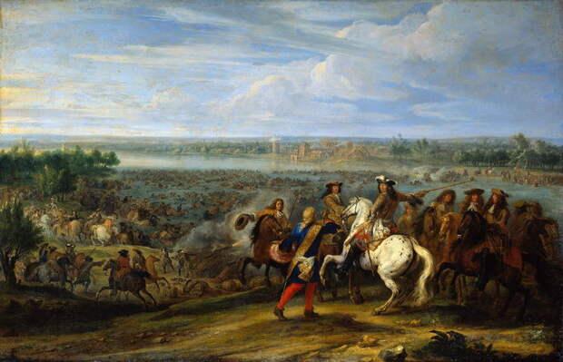 Французская армия вторгается в Нидерланды в 1672 году. Художник Адам Франс ван дер Мейлен - Победа любит усердие   Warspot.ru