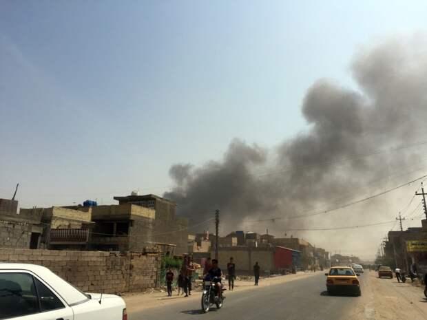 Крупное возгорание замечено на американской базе «Виктория» в Ираке
