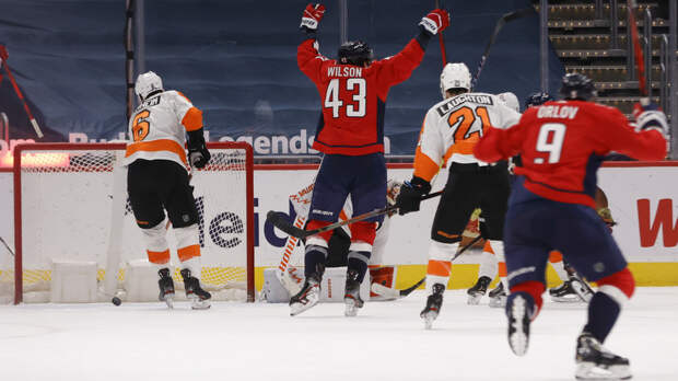 Пас Орлова в OT помог «Вашингтону» обыграть «Филадельфию» в НХЛ