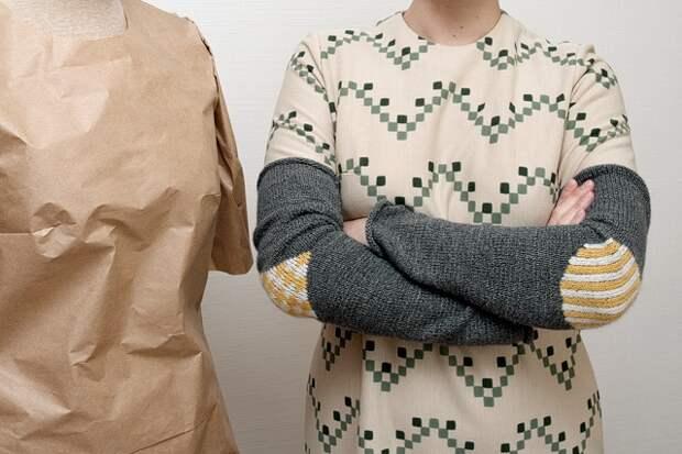 Рукава с вышитыми заплатками (Diy)
