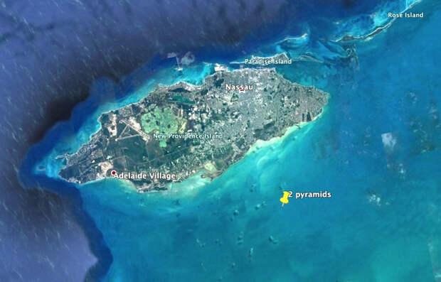 Уфолог обнаружил возле Багам две огромные подводные пирамиды