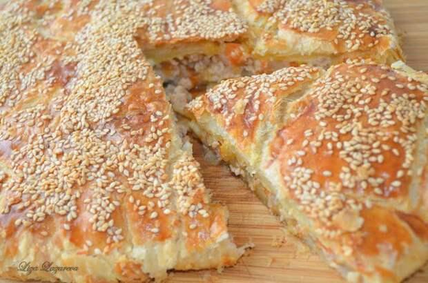 """Греческий мясной пирог """"Небрежный"""""""