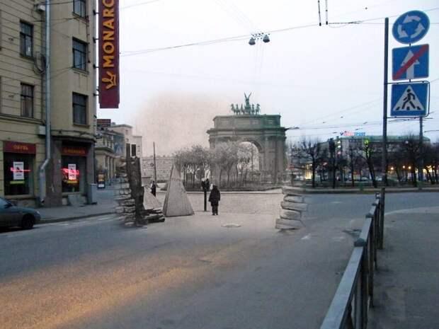 Ленинград 1941-2009 Площадь Стачек- Нарвский проспект блокада, ленинград, победа