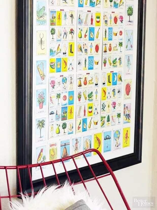 Почтовые марки...как декор стены