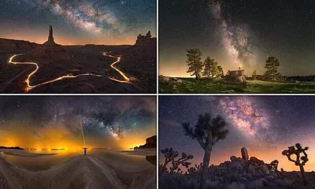 Необычайные фотографии ночного неба отИрана доКалифорнии