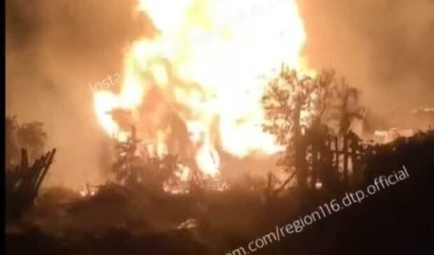 ВКазани сгорел дом наместе будущей дороги-дублера Горьковского шоссе