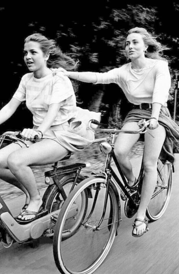 Мото-вело прогулка. Италия,1985 история, ретро, фото