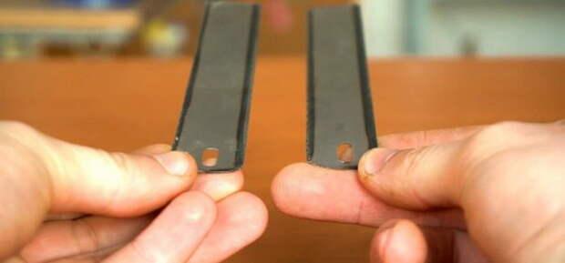 Самодельное приспособление для разметки из ножовочного полотна