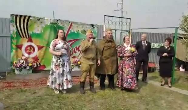 ВТюменском районе провели персональный парад удома 100-летнего ветерана