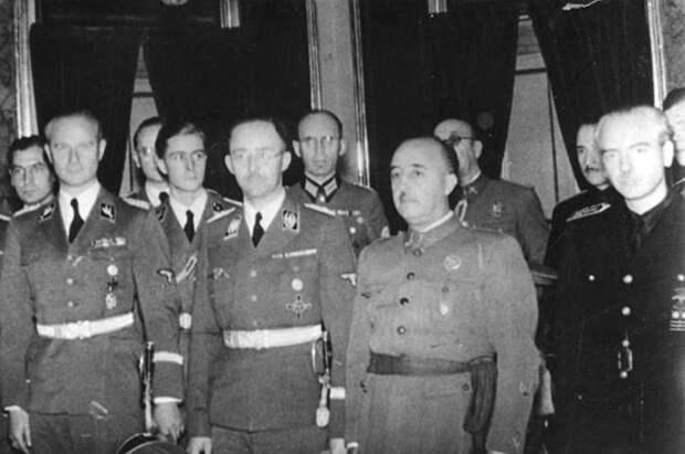 Франсиско Франко принимает немецкую делегацию во главе с Генрихом Гиммлером.