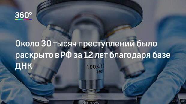 Около 30 тысяч преступлений было раскрыто в РФ за 12 лет благодаря базе ДНК
