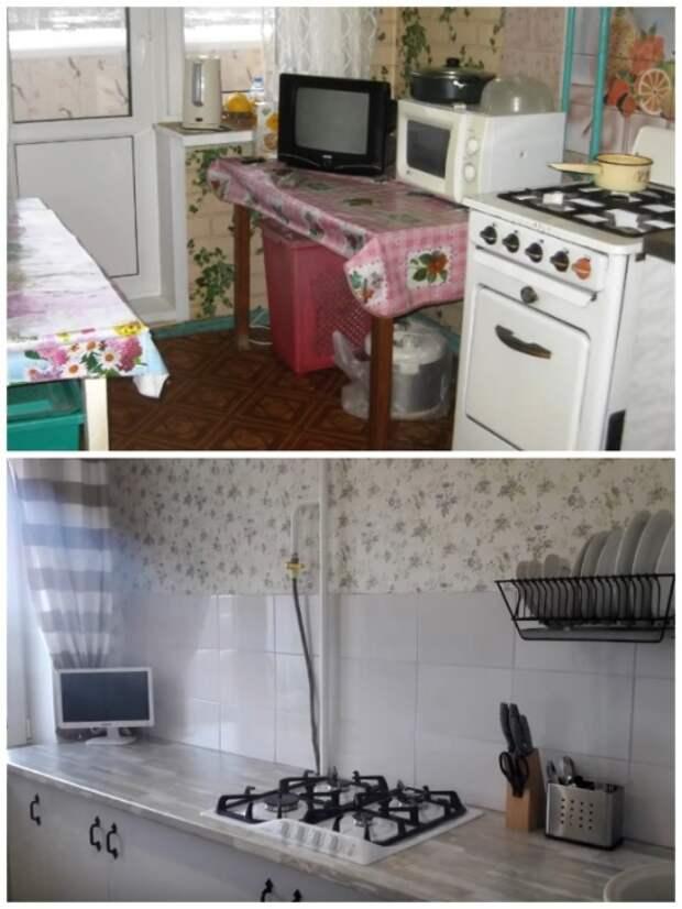 Благодаря трудолюбию и творческому вдохновению девушка изменила кухню до неузнаваемости. | Фото: youtube.com.