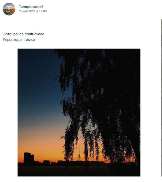 Фото дня: закат над Тимирязевскими полями