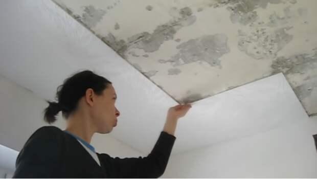 Потолочная плитка из пенополистирола очень капризна в работе. | Фото: youtube.com.