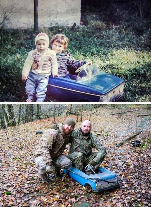 Два брата вернулись в Припять, чтобы повторить детское фото