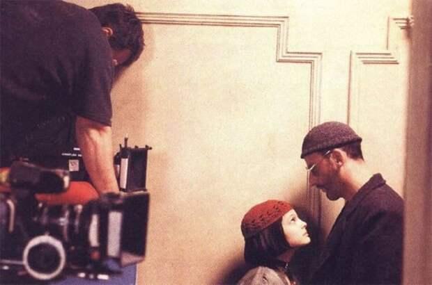 На съемках фильма *Леон* | Фото: dubikvit.livejournal.com