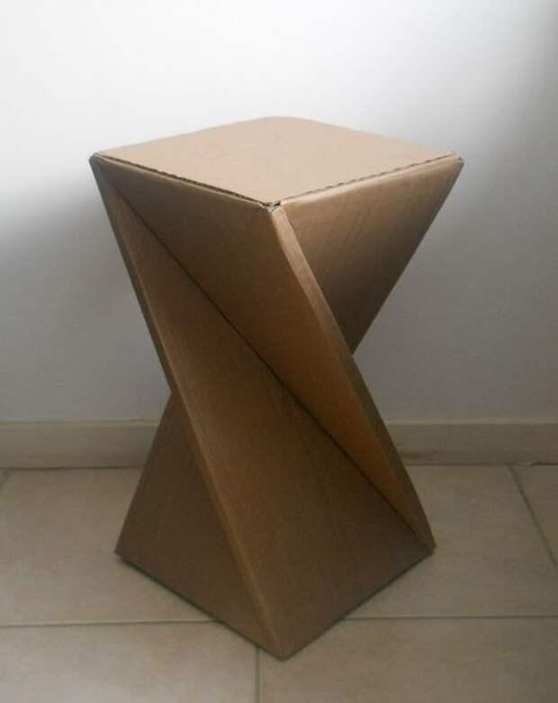 3. Казалось бы, что можно сделать из картонных коробок, ведь они такие хрупкие? идеи, интересно, мастер на все руки, своими руками, сделай сам, фото