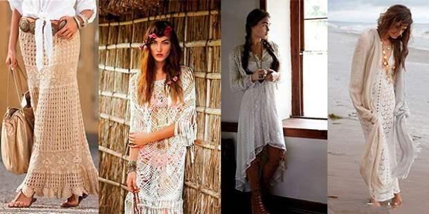 Вязание в стиле бохо:  варианты осенней красоты