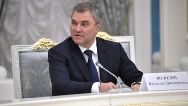Володин заявил о необходимости обсуждения способов регулирования интернета