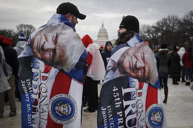 Зрители во время инаугурации Дональда Трампа. 20 января 2017 года