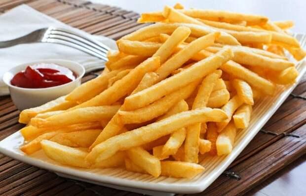 Фаст-фуд: картофель фри.