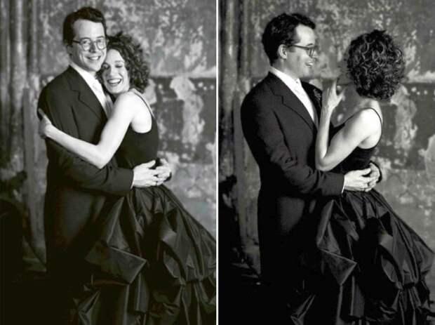 Сара Джессика Паркер и Мэттью Бродерик были необычайно счастливы в день свадьбы. / Фото: www.yimg.com
