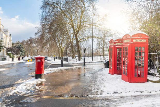 Снег выпал в Англии после жарких выходных