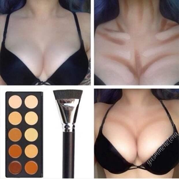 Страшная сила макияжа девушки, обман, юмор