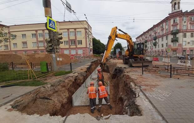 В Ижевске энергетики синхронизировали замену двух участков теплосетей, проходящих под улицей Пушкинской