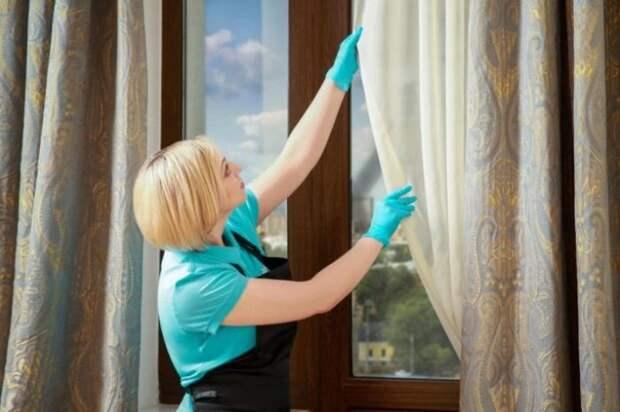 Кондиционер обеспечит шторам приятный аромат. / Фото: moidomiks.ru