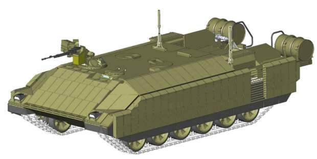 В России создается тяжёлый роботизированные танковый комплекс «Штурм», состоящий из 4 боевых машин