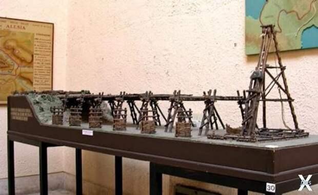 Масштабная модель (1:30) деревянного ...