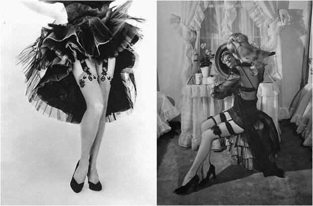 Гламур середины XX века: фотографии очаровательных дам в изящных чулках