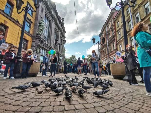 Неудавшийся митинг в центре Петербурга: подробности