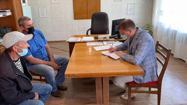 Глава администрации района Антон Кравец провёл прием граждан в Косточковском сельском поселении