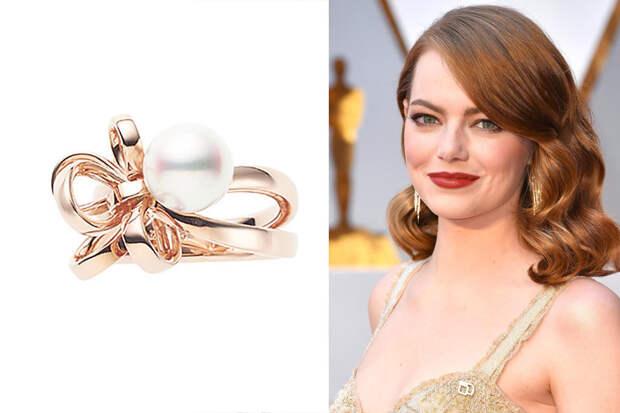 Эмма Стоун обручальное кольцо