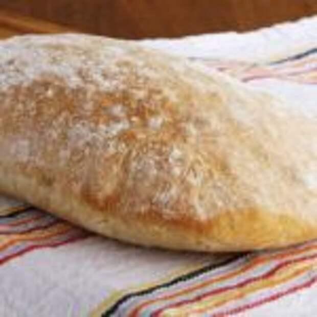 Домашний вкусный хлеб чиабатта